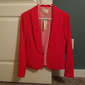 New! Red/Orange Blazer. Never worn, tags still on.